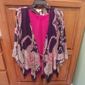Colorful kimono boutique blouse
